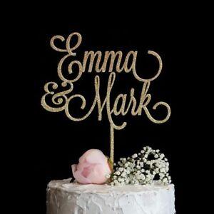 Customized Name Wedding Birthday Cake Topper Couple Personalized Name Decoration