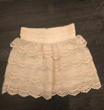 Beige Size M Lace Shorts Lined /Elastic Waist