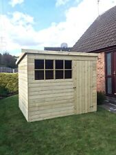 10x4 GARDEN SHED TANALISED T&G WOODEN STORE PENT GEORGIAN STYLE  OUTDOOR HUT