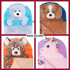 Hugfun Kids Animal Head Plush Slumber Bag -BRAND NEW DESIGNS