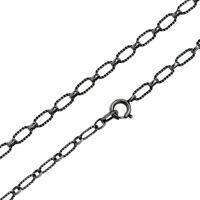 Damen Halskette echt Silber 925 Sterling rhodiniert 60 cm lang Erbskette Kette