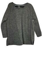 Danskin Now Women's Gray Fleece Activewear Pullover Size 2X 18W-20W