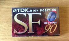 TDK SF90 Cassette a nastro 10 Pack-Custodia Completo di 10 SIGILLATO Nuovo di Zecca & CASSETTE