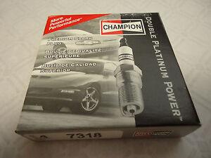 Lot of 4 Genuine Champion 7318 Double Platinum Power Spark Plug
