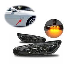 Car Black LED Side Marker Light Turn Signals For BMW E82 E88 E60 E61 E90 E91 E92