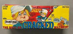 1978 Fleer Cracked Magazine Unopened Wax Pack Box w/ 34 Packs