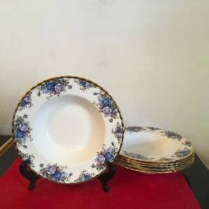 Royal Albert MOONLIGHT ROSE - Lipped 9 inch  SOUP or Pasta BOWL   9 available