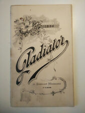 Catalogue ancien Cycles Gladiator 1896, vieux vélo collection