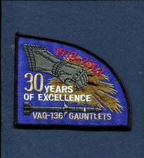 VAQ-136 GAUNTLET 30th 1973 2003 US NAVY GRUMMAN EA-6B PROWLER Squadron Patch