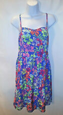 RED CAMEL Women's Spaghetti Strap Dress Adjustable Floral Multi-Color  Size 9