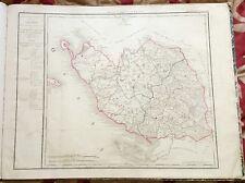 Dépt 85 - Carte Originale de 1790 Gravure sur Cuivre Aquarellée 73 x 56 cm