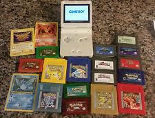 White gameboy advance sp Final Fantasy AGS 101 Nintendo games pokemon zelda