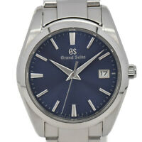 Auth SEIKO Grand Seiko 9F62-0AB0/SBGX265 Blue Dial Quartz Men's Watch P#93628