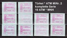 Türkiye * Turkey * Türkei * Frama ATM 2 * Komplett alle 10 Automaten * MNH