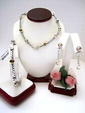 "Brighton ""MONTE CARLO"" Bronze Necklace-Earring-Bracelet Set (MSR$148) NWT/Pouch"