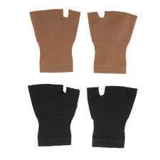 2 Pair Compression Gloves Fingerless for Arthritis Carpet Tunnel Circulation