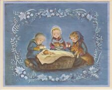 FINE Tasha Tudor Vintage Irene Dash Co Christmas Refurbished Card Kids Corgi
