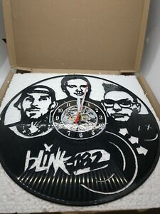 Blink-182 Vinyl Record Wall Clock. High quality detail and clock mechanism.