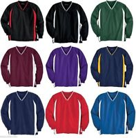 Sport-Tek Mens S-6XL OR TALL V-Neck Raglan Golf Baseball Pocket WindShirt Jumper