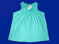Damenshirt T.-Shirt Tunika Top Trägershirt Gr. 46 Baumwolle hellgrün NEU