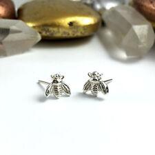 Bumble bee earrings, Silver Plated Bee Earrings, Bee Stud Earrings