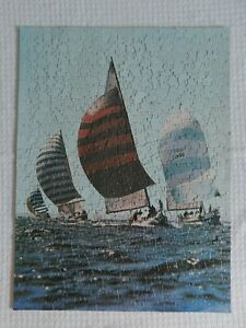 SPINNAKERS 500 Pc. Eaton Jigsaw Puzzle #Z-211 Treasure Collection 1971 Complete!