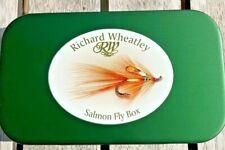 Richard Wheatley Green Salmon Logo Tube Fly Box