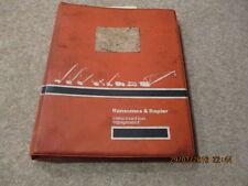 Original  Ransomes & Rapier C34B Excavator Parts Catalog & Operation Manual