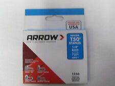 "Arrow T50 1/4"" Leg x 3/8"" Crown Heavy-Duty Staples - 5,000 Count"
