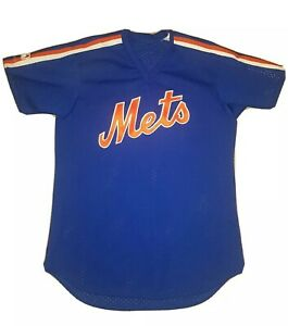 Vintage NY Mets Majestic Authentic Sewn 80s 1986 World Series MLB Jersey Mens S