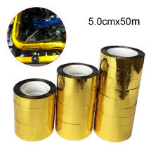 50m*5cm Gold Roll Adhesive Reflective High Temperature Heat Shield Wrap Tape