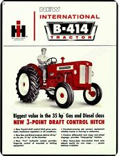 "INTERNATIONAL B-414 TRACTOR 9"" x 12"" Sign"