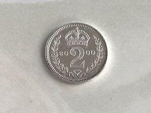 2000 Maundy 2 Penny 2D Elizabeth II Silver (.925) 0.94g ⌀13mm KM# 899, Sp4214