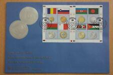 Flaggen, Münzen - UNO Wien - 1 KB auf FDC 2010