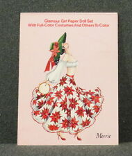 Shackman Glamour Girl Paper Doll Collectible Set - Colored & Color Your Own-New
