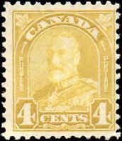 Mint H Canada 1930 F Scott #168 King George V Arch/Leaf Stamp