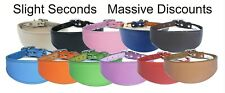 Whippet  Collar Leather Dog Collar Padded Backing Slight Seconds 12-14 Inch