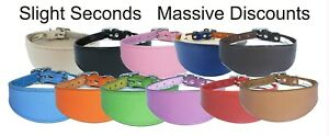 Italian Greyhound Collar Leather Dog Collar Padded Backing Seconds 10-12 Inch