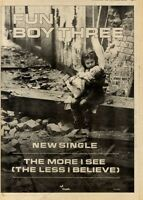 "4/12/82PGN51 SINGLE ADVERT 15X11"" FUN BOY THREE : THE MORE I SEE"