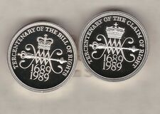 More details for boxed 1989 piedfort silver proof bill & claim of rights £2 set with certificate