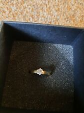 9 ct yellow gold solitaire diamond ring used