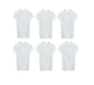Hospital Patient Gown. Lot(6) Ea. Medium Weight Medical Exam Gown~NEW~ Free Ship