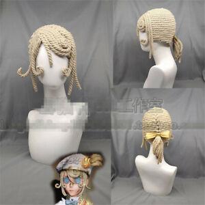 Identity V Painter Edgar Valden Cosplay Wig Handmade Cotton Rope Thick Braid