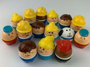 Vintage 1980's Little Tikes Toddle Tots Lot of 15 Egg People Adults Children Dog