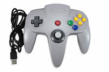 Grey Controllers and Attachments for Nintendo 64