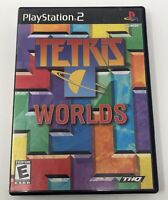 Tetris Worlds (Sony PlayStation 2, 2002) Complete Tested Working PS2