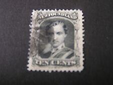 NEWFOUNDLAND, SCOTT # 27, 10c. VALUE BLACK  PRINCE ALBERT 1868 ISSUE USED