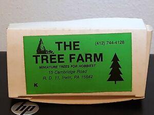 The Tree Farm Miniature Trees for Hobbyist (12) Pine Evergreen N & HO Scales