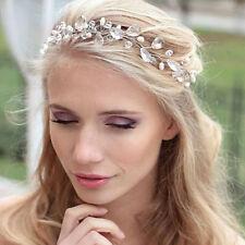 Charm Rhinestone Crystal Beads Hairband Headband Headpiece Wedding Party Jewelry
