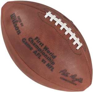 SUPER BOWL I 1 Authentic Wilson NFL Game Football - GREEN BAY PACKERS